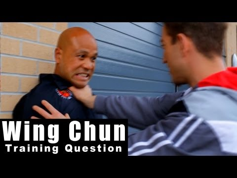wing chun training - how to deal with throat grab in the street Q32 Image 1