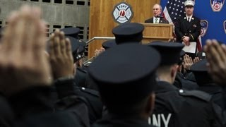 Mayor Bloomberg Speaks at FDNY Probationary Class Swearing-In Ceremony
