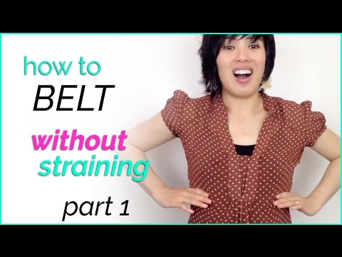 How to belt without straining? Part 1