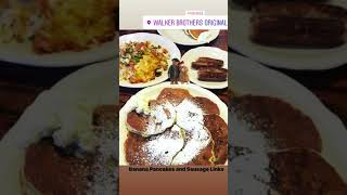 Banana Pancakes and Sausage Links from Walker Bros. The Original Pancake House
