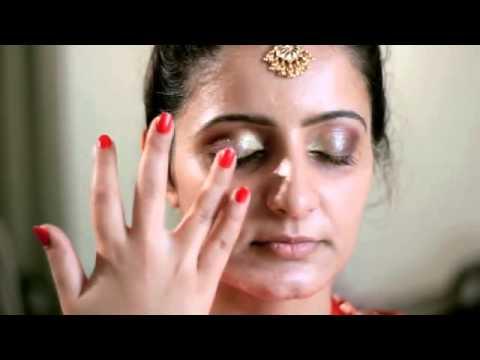 Bridal makeup tutorial for an Indian Bride