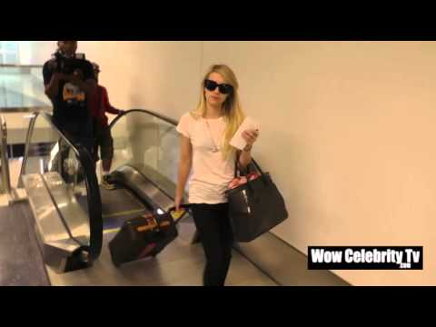 Emma Roberts spotted at LAX Airport