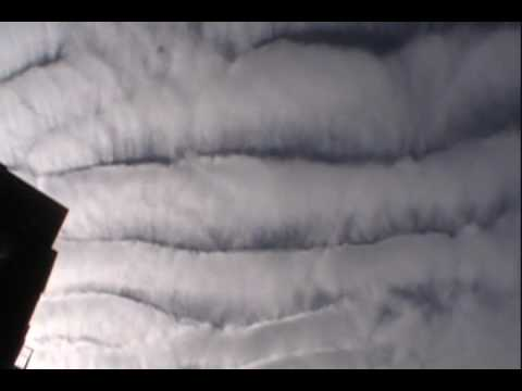 HAARP Clouds?-Strange Clouds Patterns in NYC,Smile and faces in the Clouds Dec 2009.