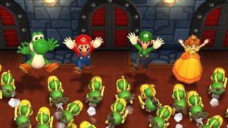 Mario Party 9 - Yoshi vs Mario vs Luigi vs Daisy| Step It Up Master Difficulty| Cartoons Mee