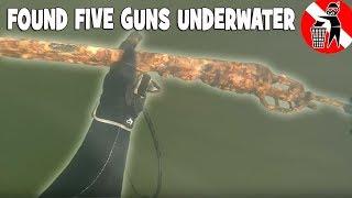 I found five guns river treasure hunting,  detrashing