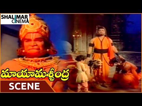 Maya Machindra Movie || Janardhana Rao Saves Rama Krishna & NTR Son || NTR || Shalimarcinema