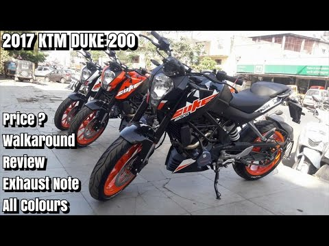 New Things In 2017 KTM DUKE 200   Walkaround   Review   Exhaust Note   All Colours   Nagpur