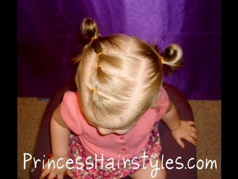 Toddler Hairstyles, Elastic Braid Pigtails