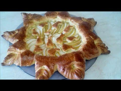 Выпечка Рецепт дрожжевого теста Пирог с грушей