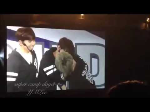 [Fancam] supercamp Day2 super junior paper kiss