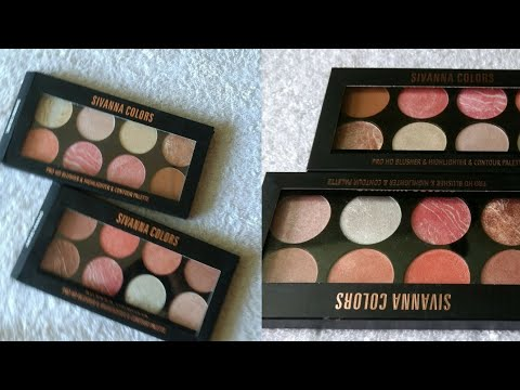 All in One Sivanna Pro HD Blusher. Highlighter & Contour Palette Review 😍😍   Beauty With Easy Tips