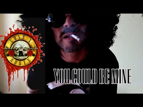 SLASH Shoots the TERMINATOR!-G'N R-You Could Be Mine Guitar Cover
