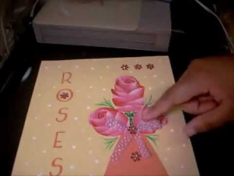 Making Arts Crafts Out Of Greeting Card Designs Rose