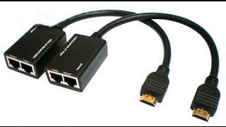 Extensor HDMI para cabo de rede RJ45 cat5/6/exten
