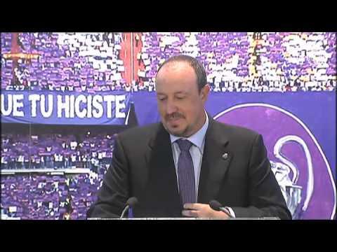 Emotivas palabras de Rafa Benítez en su presentación