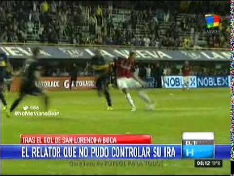 La bronca del relator por la agónica derrota de Boca frente a San Lorenzo