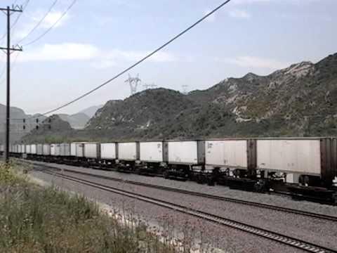 Union Pacific Ethanol Train Meets BNSF Intermodal at Cajon jct. Cajon Pass - 5/21/11