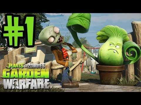 Plants VS Zombies Garden Warfare Walkthrough Part 1 - Gardens & Graveyards - Xbox One Gameplay