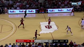 First Half Highlights: Nebraska at Indiana | B1G Basketball