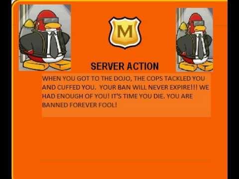 club penguin funny bans   youtube