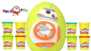STAR WARS BB-8 Droid Sürpriz Yumurta Oyun Hamuru. BB-8 Droid Surprise Egg Play-doh