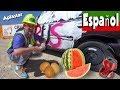 Tritura un Automóvil con la Excavadora de Blippi Español | Aprende a Deletrear en Ingles para Niños