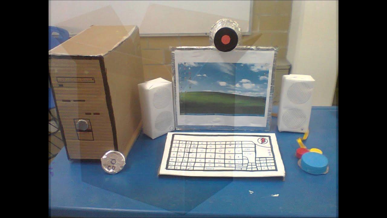 Como Hacer Una Maqueta De Una Computadora Con Materiales Reciclables
