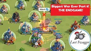 Biggest War Ever Part 7! THE ENDGAME! Kingdom 96 RD1 vs GO+! Rise of Civilizations