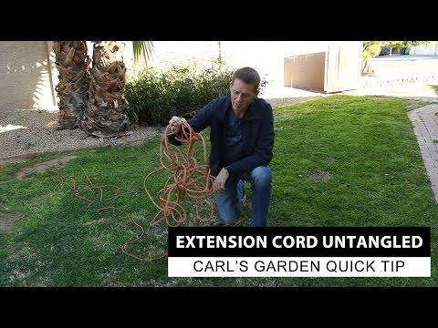 Extension Cord Management   Carl's Garden Quick Tip