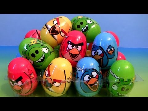 25 Angry Birds Surprise Eggs Easter Golden Egg Hunt Holiday Edition Epic Review By Disneycollector video