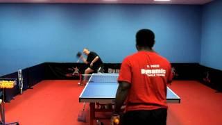 Playing Against a Chopper - Table Tennis