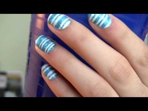 Simple Nail Designs Stripes Striped Nail Design Super