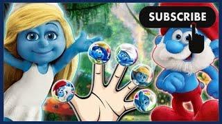 Smurfs on TV Finger Family Song  Funny Nursery Rhymes for Kids