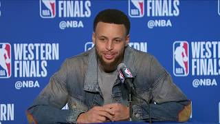Stephen Curry Postgame Press Conference | Trail Blazers vs Warriors Game 1