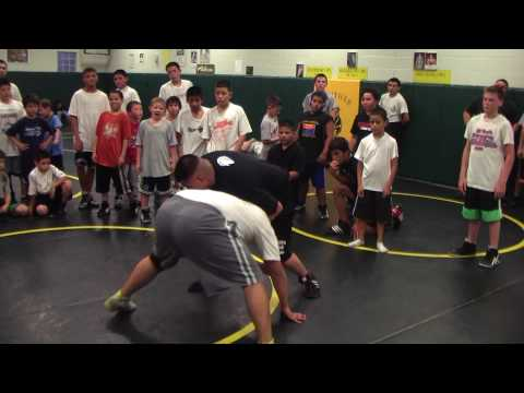 Richard Fimbres Front Headlock, Step, Drive Through Freestyle Folkstyle Wrestling Image 1