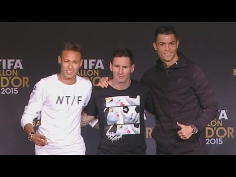 Press Talk FIFA Ballon d'Or 2015 - Messi|Ronaldo|Neymar