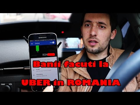 Cati BANI am facut la UBER intr-o saptamana.  How much money I made in one week driving for UBER