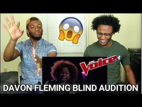 The Voice 2017 Blind Audition  Davon Fleming: Me and Mr Jones REACTION