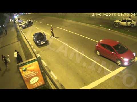 ДТП на перекрестке проспект Науки — проспект Правды (24-04-2016)