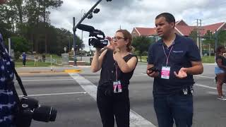 Anti Nazi protest at University of Florida - Video by Gainesville Sun