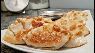 Korean Dumplings Recipe | Kimchi Pork Mandu | Pan Fried Dumplings | Dumpling Sauce Recipe