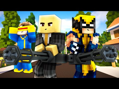 Minecraft - WHO'S YOUR DADDY? - BABY X-MEN !? (Wolverine, Professor X, Cyclops, Storm)