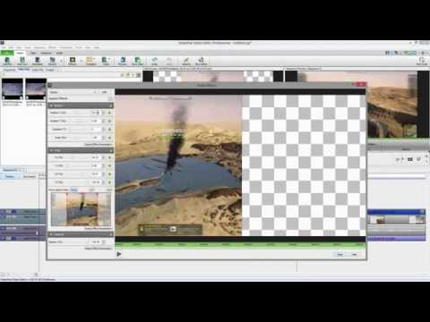 Videopad Video Editor (3.xx) Free Split-screen Tutorial [english] video