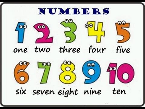 Английский детям.Числа от 1 до 10. Learn numbers from 1 to 10.