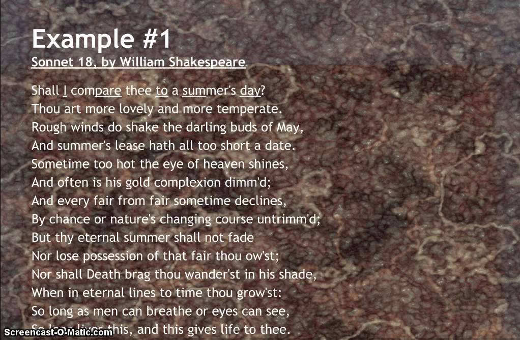 Iambic Pentameter Poems | Examples of Iambic Pentameter Poetry