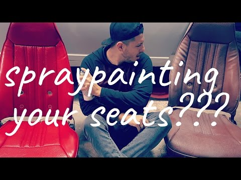 OrtegaDrives: Spray Painting your Seats?! how to change seat color cheap.