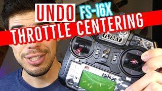 FS-i6X - How To Undo Throttle Auto Center - Complete DIY Mod Tutorial - Flysky Transmitter