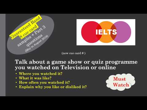 IELTS Cue card Talk about a game show or quiz programme you watched on TV or Online