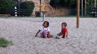 Funny Video Baby Funny Videos/Ali playing with cute littel Girl/new Funny Video 2010