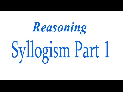 Reasoning for Bank Exam - Syllogism Part 1